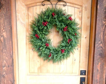 Christmas Wreath-SCENTED Wreaths-Holiday Door Wreath-CEDAR Door Wreath-Christmas Home Decor-Holiday Home Decor-Housewarming-Outdoor Wreath