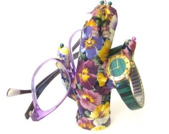 Short Smart Watch Glasses Pansy Fabric CACTUS-Stand Ready to Ship