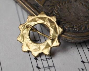 "Vintage Latvian mini folk brooch, badge,pin.""Sakta"""