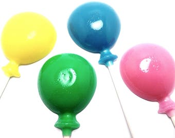 10 LARGE BALLOON LOLLIPOPS - Any Color and Flavor (Solid Hard Candy)
