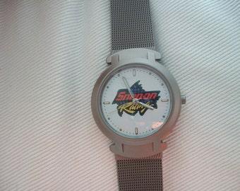 Vintage Snap On Racing Mens Wrist Watch
