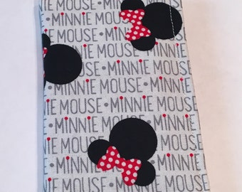 White Minnie Mouse wallet, Card holder, business Card Holder, Park Pass Holder, Small Wallet