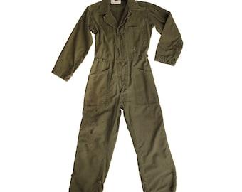 Vintage Olive Green Army Flight Suit