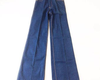 1970s high waisted BELL-BOTTOM DEADSTOCK jeans