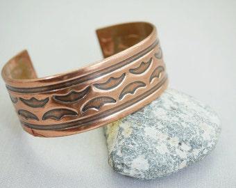 Vintage Cuff Bracelet Solid Copper Cuff Bracelet