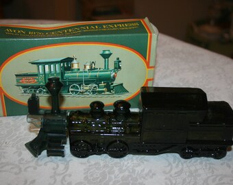 Vintage Avon Cologne Bottle 1876 Centennial Express Wild Country After Shave Train Railroad