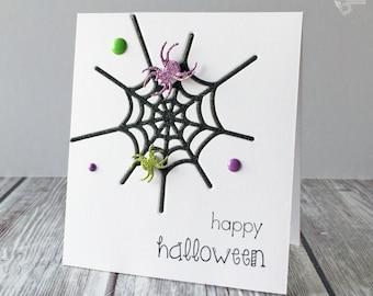 Glitter Spiderweb Card
