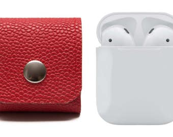 AirPods Case. Earphones Cover. Belt Case. AirPods Keychain. EarBuds. Red. Belt Pouch