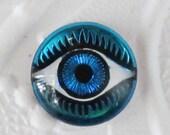 25% off Birthday SALE Bermuda Blue Evil Eye Cabochon 14mm