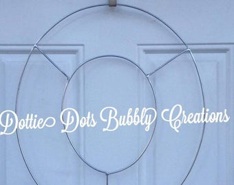 Oval Flat Wire Wreath Form