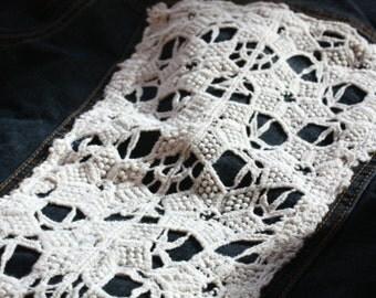 Jean Jacket, Off White Lace Jacket, Women's Jacket
