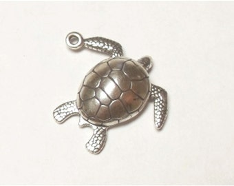 SALE Vintage Sterling Silver Sea Turtle Charm Wheeler Mfg Co