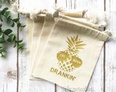 Hangover Kit Bag | Survival Kit | Hangover Kit | DRUNK IN LOVE | Bachelorette survival kit | Pineapple bachelorette | Just Drunk | Beach
