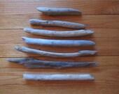 5 Sturdy Driftwood Sticks Lake Michigan Driftwood Craft Supplies