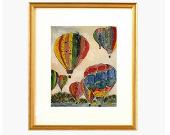 Hot Air Balloon Collage - Original