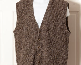 Vintage 90s Sleeveless Cardigan Sweater Vest - ST JOHNS BAY - L