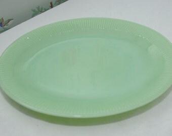 Jadeite / Jadite/ Green Milk Glass Platter