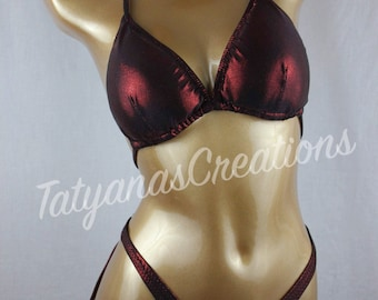 In Stock : Dark Red/Black Figure suit C cup Small bottom.