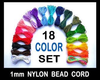 1mm Nylon Bead Cording - Blythe Doll Repair Cord - 18 Colors