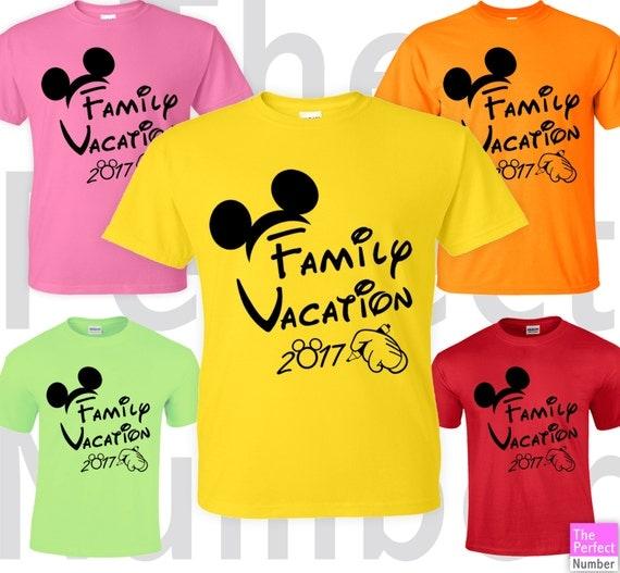 Disney Family Vacation Matching T-shirt Cute Mickey Ears 2017