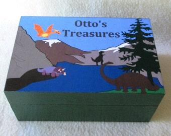 Boy's Keepsake Box - Boys Memory Box - Dinosaur - Personalized Keepsake Box - Treasure Box - Gift