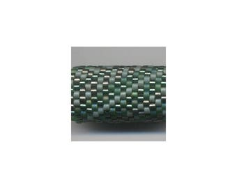 Woven Glass (Dread) Bead Tube ... ... ... 12mm/o-9mm/i ... ... ... ... ... 17x20 * 472