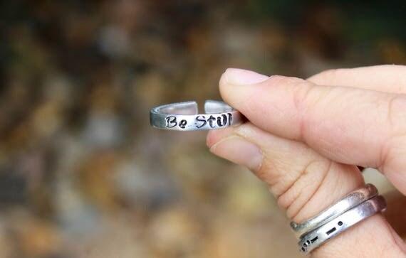 Be Still Mantra Ring