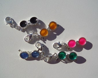 39mm Sunglass charms with lobster clasps, (Y31)