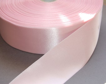 "2yds 1 7/8"" Pale Pink Double Faced Satin Ribbon"