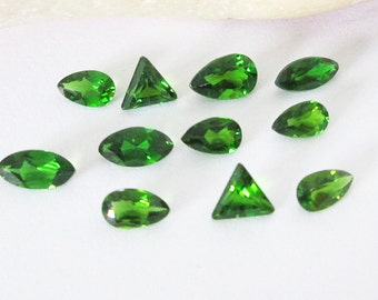 Russian Chrome Diopside Mixed  Cut Lot 2.95cttw