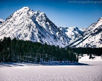 Winter Landscape, Mountain Photography, Grand Teton National Park, Rustic Landscape, Western Art, Teton Photograph, Winter Forest Print