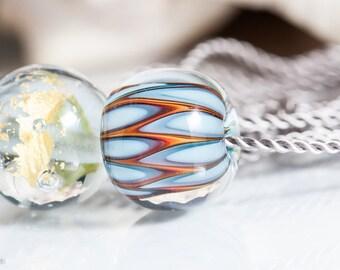 GlassBonBon  Artisan Glass Beads Ooak Lampwork Beads SRA Necklace