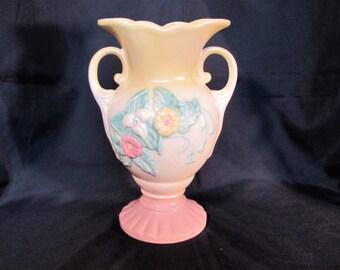 "Hull Art Pottery Vase / Hull Embossed Wildflower W 14 10 1/2"""