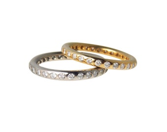 1Ct Diamond Infinity Band Ring 18k White Gold| Size 7| Wedding Band|Heavy 18k Ring with 30 Diamonds|Weighs 4.2 Grams