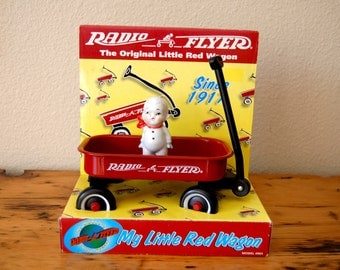 Vintage Radio Flyer Wagon The Original Little Red Wagon Vintage Toy Radio Flyer Wagon Vintage Red Wagon from The Eclectic Interior