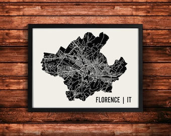 Florence Map Artwork | Map of Florence | Florence Italy Map | Florence City Map | Florence Poster | Florence Wall Art Print