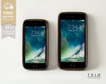 iPhone 7 Case, iPhone 7 Plus Case Leather Case Bumper Cover [Handmade] [Custom Colors]