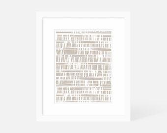 Neutral Modern Art / Vertical Minimalist Art / Large Gallery Art / 5x7 8x10 11x14 16x20 18x24 / Matted and Framed