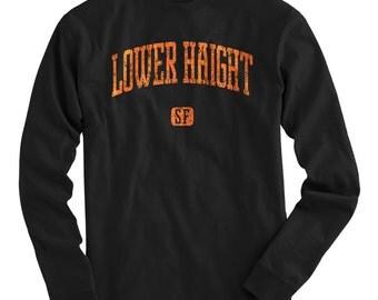 LS Lower Haight San Francisco Tee - Long Sleeve T-shirt - Men S M L XL 2x 3x 4x - Gift, Fillmore Shirt, SFO, Bay Area, Travel, Neighborhood