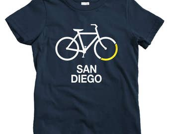 Kids Bike San Diego T-shirt - Baby, Toddler, and Youth Sizes - Kids Tee, Bicycle Kids, Cycling Kids, San Diego Kids, Bike Kids, Bicycle Sign