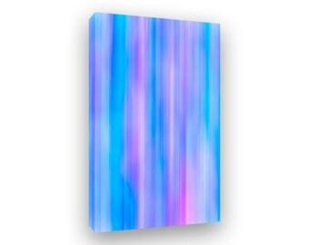 Abstract Art, Colorful Modern Art, Canvas Print, Large Framed Vertical Art, Blue Art, Purple Art, Contemporary Art, Modern Lines Sripes