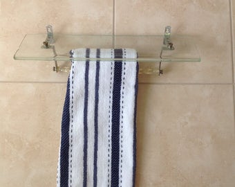 Vintage Bathroom Shelf with Hand Towel Bar
