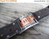 ON SALE Personalized Collar Bar Id Tag - Unique Pet Id Tag - Copper Pet Tag - Aluminum Pet Tag - Wire Wrapped Pet Id Tag - Id Tag - Noiseles