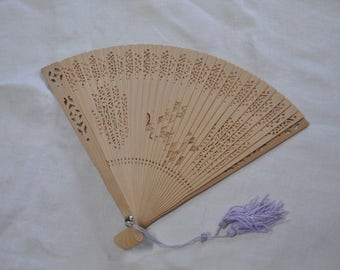 Beautiful Vintage Wooden Fan