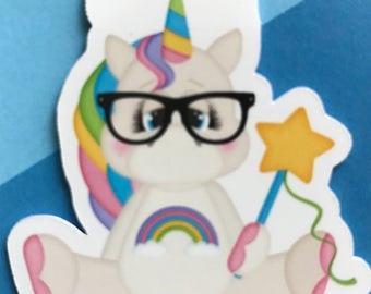 Nerd Unicorn Magnetic bookmark