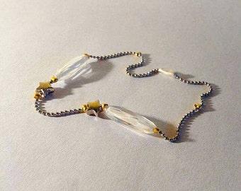 Armband Gold Silber Stern Art-Déco Perlen Kugelkette antik