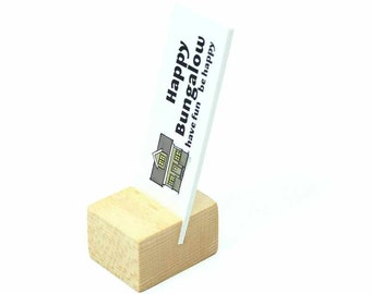 Mini Business Card Holder, Wooden Card Holder, Wood Business Card Holder, Business Card Holder for Desk, Business Card Stand