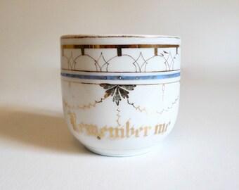 Victorian Remember Me Gentleman's Mustache Cup