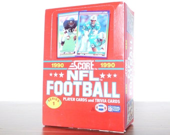 1990 Score NFL Football Cards Unopened New Wax Packs