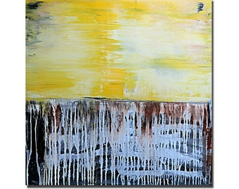 YELLOW........original acrylic painting abstract art
